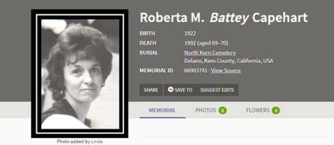 Capehart memorial picture (Roberta)